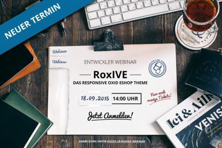 RoxIVE-Webinar jetzt am 18.09.2015!