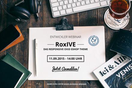 Jetzt beim RoxIVE-Entwickler Webinar anmelden!