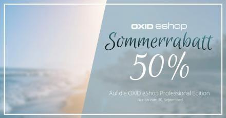 50% beim Kauf einer OXID PE sparen!