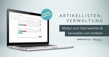 Neues OXID-Modul zur Erstellung von Artikellisten