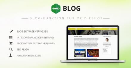 Wordpress Blog-Funktion in OXID eShop: evoBLOG